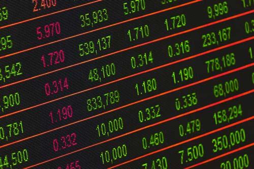 tabla de una casa de cambio
